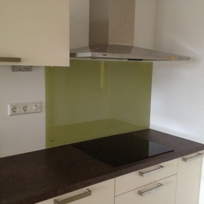 glazen keukenwand groen