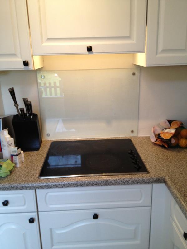 glazen keukenwand helder